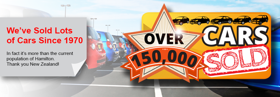over 150,000 cars sold