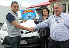 lucky winner of the CFS Finance 'win your car payments FREE for a year' Promotion!